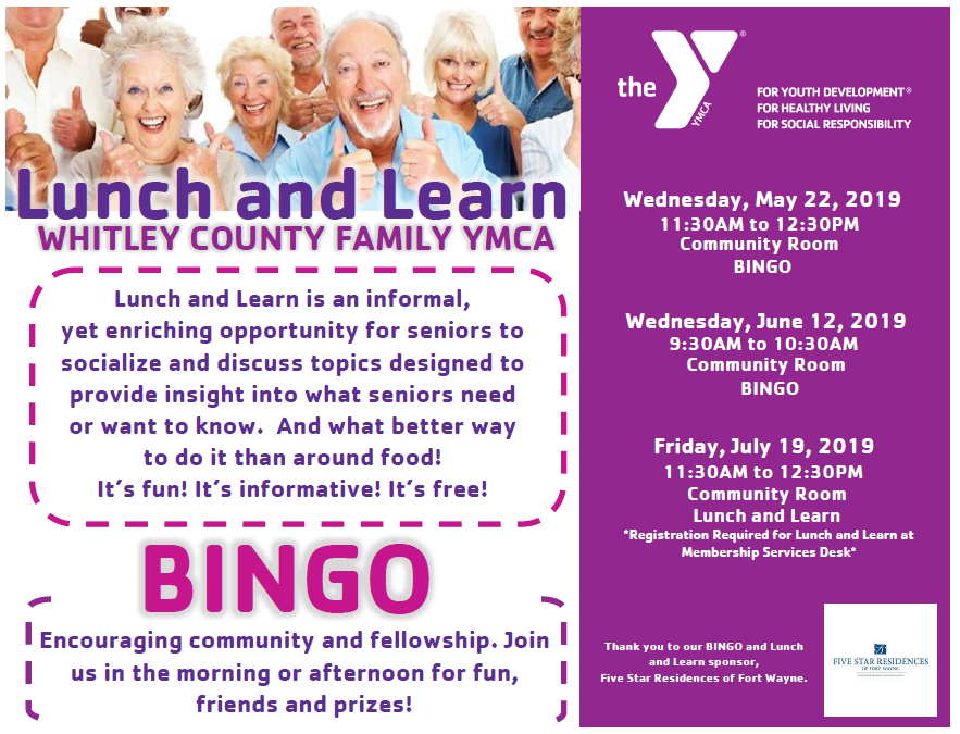 Senior Lunch and Learn | YMCA OF GREATER FORT WAYNE
