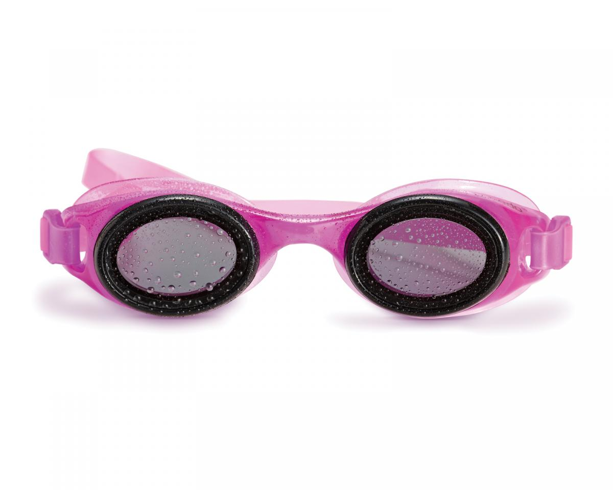 Pink goggles.
